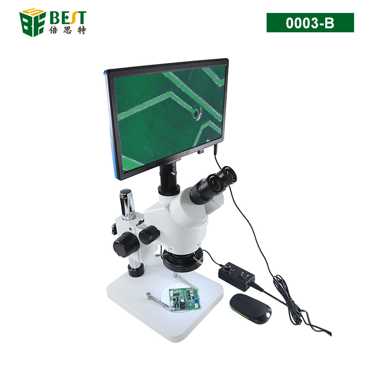 0003-B Trinocular stereo microscope with HD VGA Camera