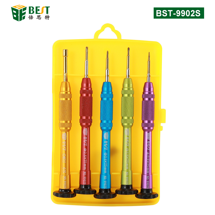 BST-9900S 5pcs Precision Screwdriver Set for iPhone 7 Opening Repair Tools Kit