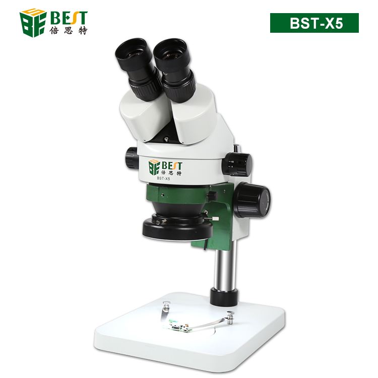 BST-X5 Binocular Stereo Microscope 10X/20X Above LED Lights PCB Solder Tool (New)