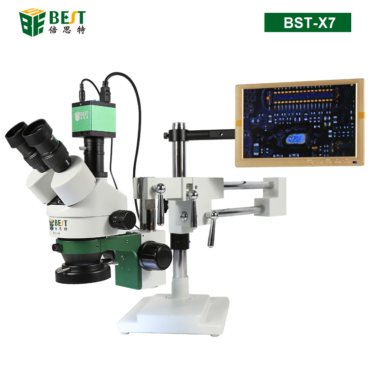 BST-X7 Video Stereo Trinocular 3D Digital Microscope